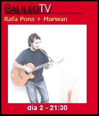 Marwan y Rafa Pons en directo desde Galileo TV