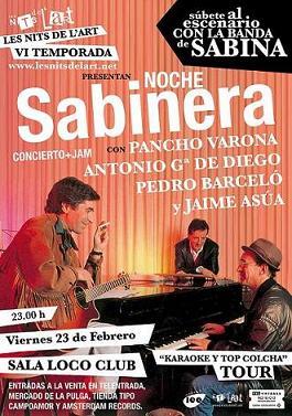 Los músicos de Sabina presentan ´Karaoke y Top Colcha´ en la Sala Loco Club