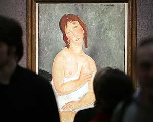 Los impúdicos desnudos de Modigliani desembarcan por primera vez en Rusia