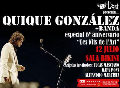 Quique González, 12 Julio, Barcelona (Les Nits de l'Art)