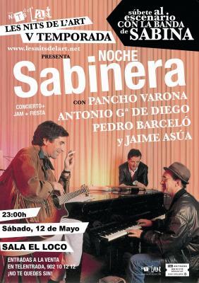 Noche Sabinera en Valencia este sábado (12/05)
